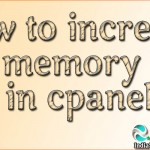 How to increase PHP memory limit in cpanel