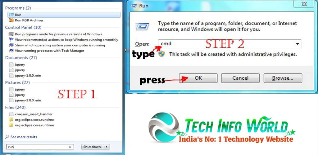 windows how to find ip address of nas