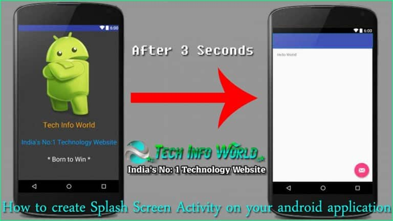 Create Splash Screen Activity on your Android App