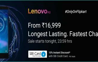 Lenovo P2 Sale tonight at 11:59 PM only on Flipkart