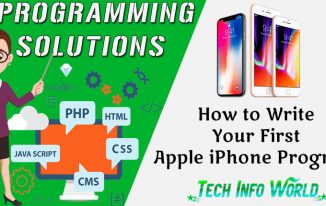 How to Write Your First Apple iPhone Program