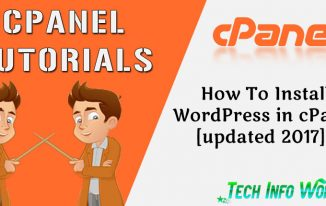 How To Install WordPress On cPanel [updated 2018] ?