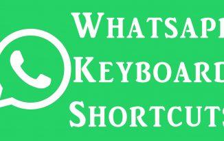 whatsapp keyboard shortcuts keys