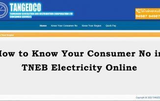 tneb know consumer no online